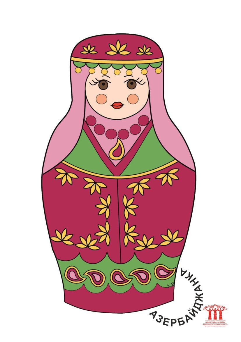 фото шаблон матрёшка азербайджанка