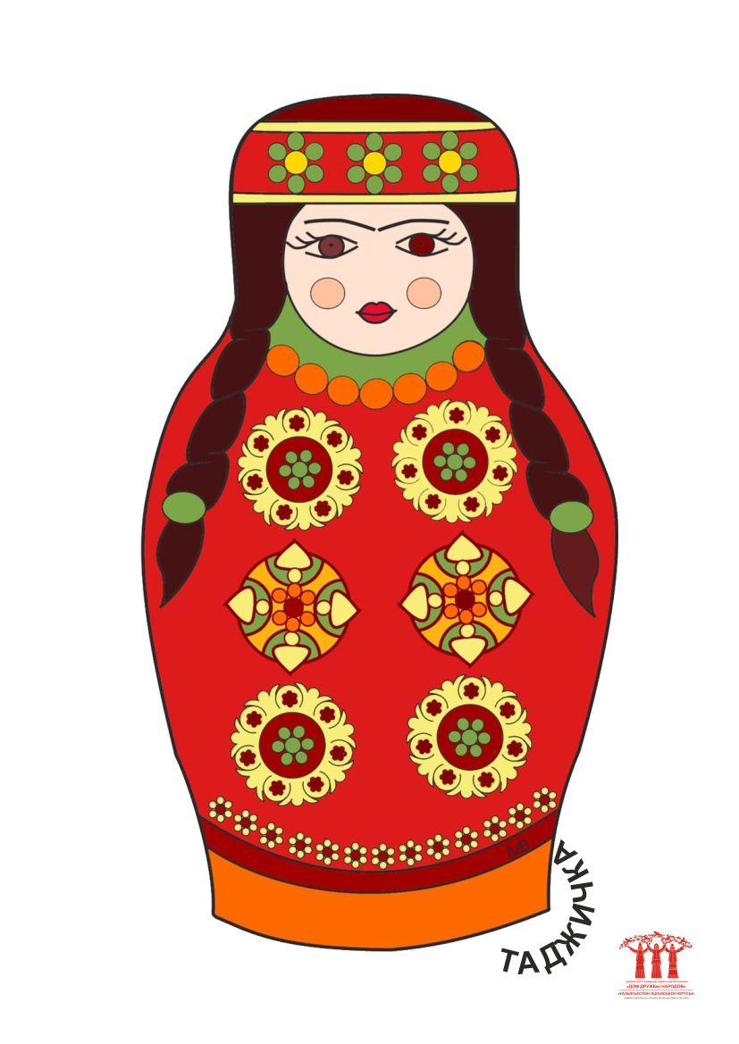 фото шаблон матрёшка таджичка